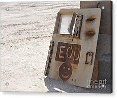 An Explosive Ordnance Disposal Logo Acrylic Print by Stocktrek Images