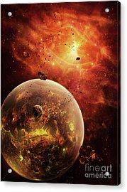 An Eye-shaped Nebula And Ring Acrylic Print by Brian Christensen