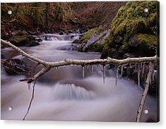 An Icy Flow Acrylic Print