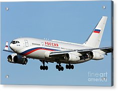 An Ilyushin Il-96 Airliner Prepares Acrylic Print