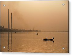 An Industrial Sunset Acrylic Print by Fotosas Photography