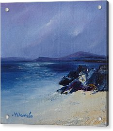 An Iona Beach Acrylic Print by Margaret Denholm