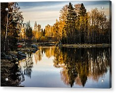 Acrylic Print featuring the photograph An Island by Matti Ollikainen