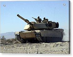 An M1a1 Main Battle Tank Acrylic Print by Stocktrek Images