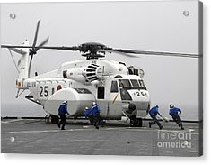 An Mh-53e Super Stallion Helicopter Acrylic Print by Stocktrek Images