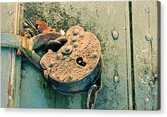 Acrylic Print featuring the photograph Old Lock by Katie Wing Vigil
