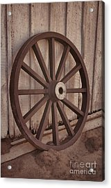 An Old Wagon Wheel Acrylic Print