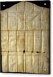 An Original Copy Of The Canandaigua Acrylic Print by Joseph D. Lavenburg