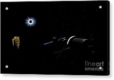 An Orion Class Crew Exploration Vehicle Acrylic Print by Walter Myers