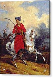 An Ottoman On Horseback Acrylic Print by Charles Bellier
