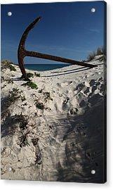 Anchor Beach 10 Acrylic Print by Jez C Self