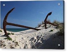Anchor Beach 8 Acrylic Print by Jez C Self