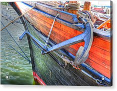 Anchor Setting Acrylic Print by Barry R Jones Jr