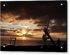 Anchored To The View Acrylic Print