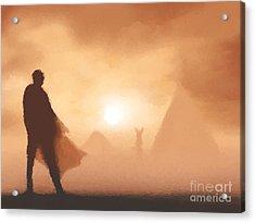 Ancient Desert Acrylic Print by Pixel  Chimp