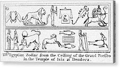 Ancient Egypt: Zodiac Acrylic Print by Granger