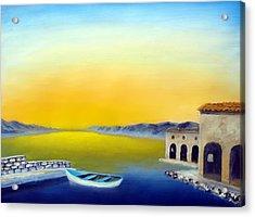 Ancient Fishing Village Acrylic Print