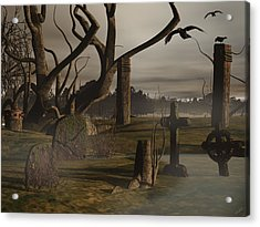 Ancient Graveyard Acrylic Print by Tea Aira