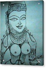 Ancient Indian Sculpture Acrylic Print by Hari Om Prakash