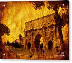Ancient Rome Acrylic Print by Stefano Senise