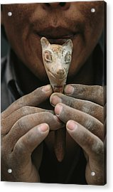 Ancient Wari Indian Whistle Made Acrylic Print by Kenneth Garrett