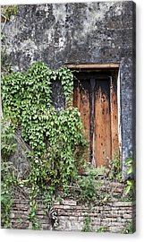 Ancient Window In Old Temple Thailand Acrylic Print by Chavalit Kamolthamanon