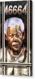 And God Remembered Prisoner 46664 Acrylic Print by Reggie Duffie