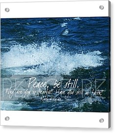 and He Awoke And Rebuked The Wind And Acrylic Print