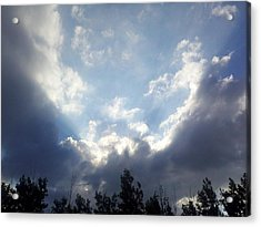 And The Clouds Opened Up Acrylic Print by Christy Patino