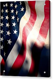 And The Flag Still Stood Acrylic Print by Catherine Natalia  Roche