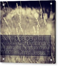 and The Peace Of God, Which Surpasses Acrylic Print by Traci Beeson