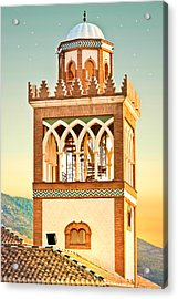Andalucian Minaret Acrylic Print by Tom Gowanlock