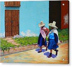 Andean Ladies Acrylic Print