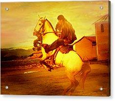 Andean Rearing Horse-cuzco Caballero IIi Acrylic Print