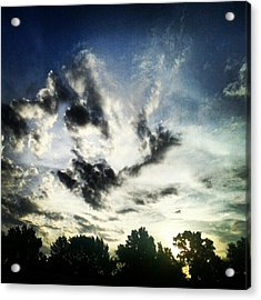 #andrography #nexuss #clouds #sky Acrylic Print by Kel Hill