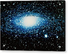 Andromeda Galaxy With Brightness Contour Lines Acrylic Print by Laguna Design