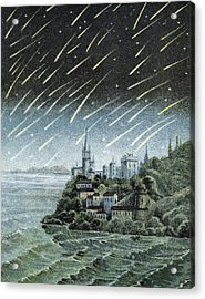 Andromedid Meteor Shower Acrylic Print by Science, Industry & Business Librarynew York Public Library