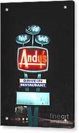 Andy's Drive-in Acrylic Print by Jost Houk