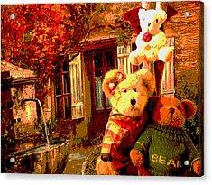 Angel Bear Acrylic Print by David Alvarez