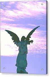 Angel In Sunset Acrylic Print