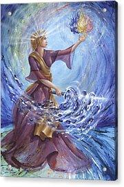 Angel Liberty Acrylic Print by Michael Baum