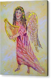 Acrylic Print featuring the painting Angel by Lou Ann Bagnall