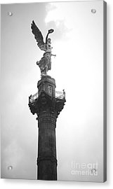 Angel Of Independence Bw Acrylic Print by L E Jimenez