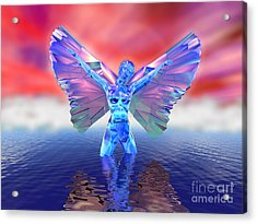 Angel On The Water Acrylic Print by Ricky Schneider