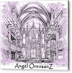 Angel Orensanz In Lilac  Acrylic Print by Building  Art