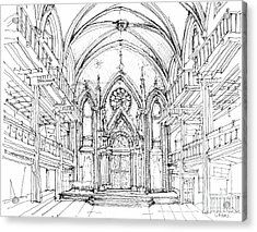 Angel Orensanz Sketch 2 Acrylic Print by Adendorff Design