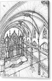Angel Orensanz Sketch 3 Acrylic Print by Building  Art