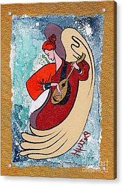 Angel Playing For Us No2 Acrylic Print by Elisabeta Hermann