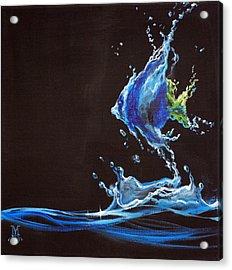 Angel Splash Acrylic Print by Marco Antonio Aguilar