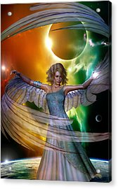 Acrylic Print featuring the digital art Angel With No Name by Shadowlea Is